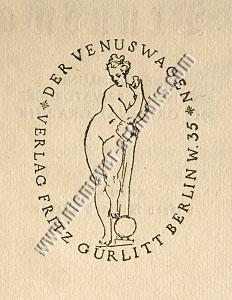 The Chariot of Venus | Verlag Fritz Gurlitt Berlin