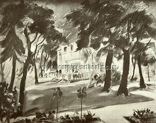 Franz Heckendorf, Villa im Park. 1923