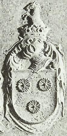 May von Weinberg: Weinberg-Wappen auf Grabstein