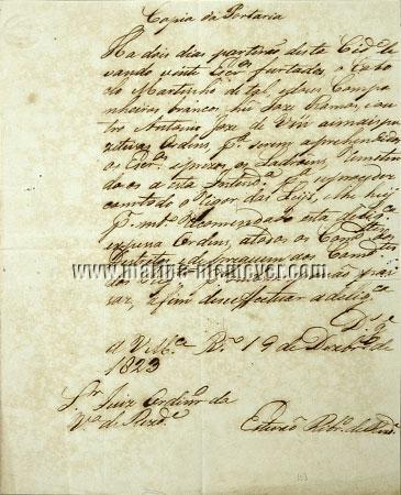Brazil - Slave Theft / Rio de Janeiro , December 19, 1823