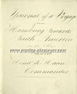 Hendrik de Haan, Journal of the Faseta Hamburg - Rio de Janeiro - Buenos Aires - Hamburg 1816-1818