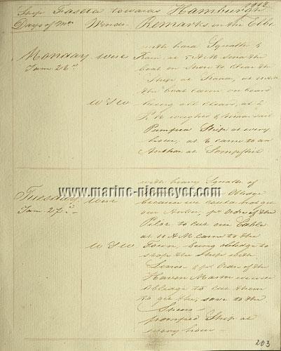 Hendrik de Haan, Logbuch 'Faseta': save to the Speers