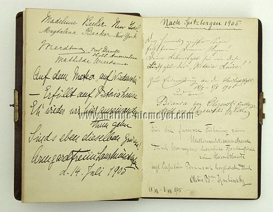Visitors' Book Prinzessin Victoria Luise: Spitsbergen 1905