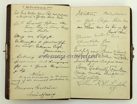 Gästebuch Prinzessin Victoria Luise: I. Westindienreise 1906