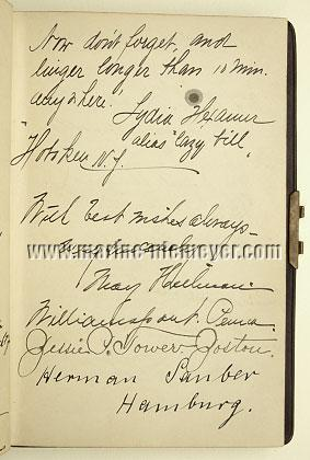 Visitors' Book Prinzessin Victoria Luise: l. 12 recto