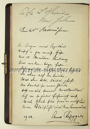 Gästebuch Prinzessin Victoria Luise: Bl. 2 verso