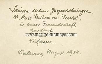 Rudolf Ritter von Gutmann, Hunting Expedition in the Year 1909