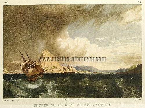 Johann Moritz Rugendas, Entree de la rade de Rio-Janeiro