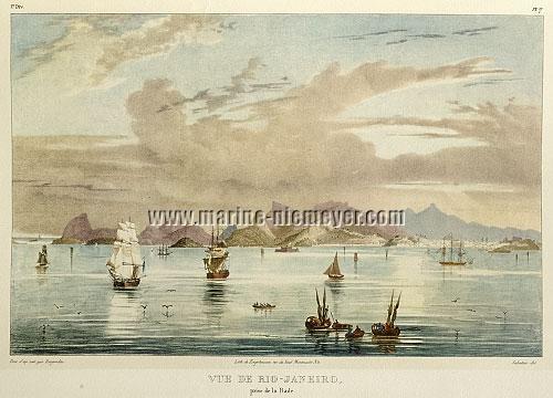 Johann Moritz Rugendas, Vue de Rio-Janeiro prise de la Rade