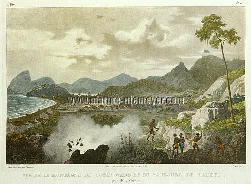 Johann Moritz Rugendas, Vue de la Montagne de Corcovado