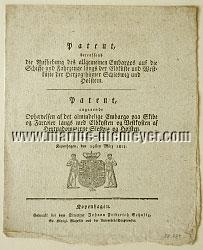 License by Frederick VI, Lifting the General Embargo