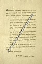 Proclamation of several special tariffs (1831)