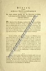 Poster by Frederick VI, King of Denmark, Duke of Schleswig, Holstein etc., regarding several special tariffs (1830)