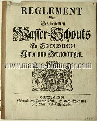 Regulation On The Commissioned Wasser=Schout's In Hamburg Office and Execution (August 31, 1691)