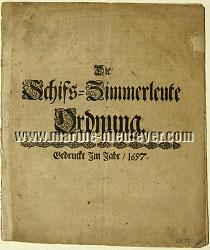 Die Schifs=Zimmerleute Ordnung (29. August 1631)
