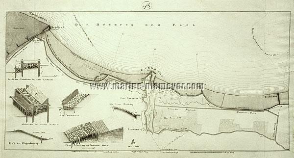 Wiebeking, Elbe von Grodenstack über Cuxhaven bis Kugelbake