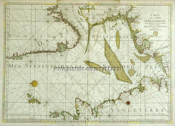 Carte de la mer d'Allemagne