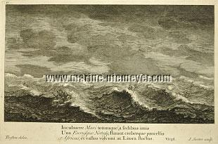 Thomas Baston, Tempest at Sea / engraving