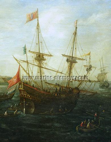 Andries van Eertvelt, Papal Galeon (detail)