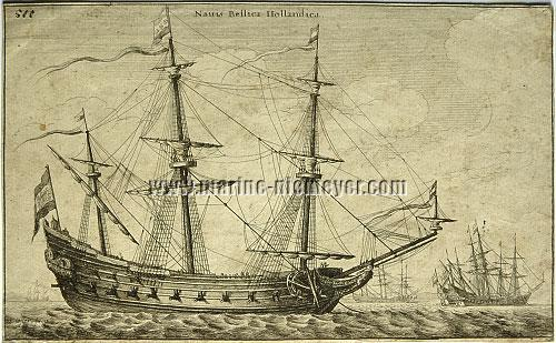Wenzeslaus Hollar, Dutch One-Deck Vessel