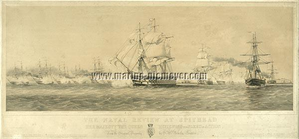Oswald Walters Brierly, The Naval Review at Spithead 1853