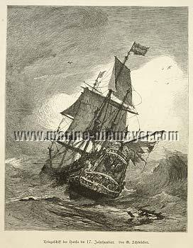 Kriegsschiff der Hansa 17. Jhdt.